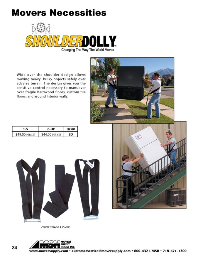 Shoulder Dolly, Heavy Duty Moving, shoulderdolly, body straps, mattress carrier, mattress slings