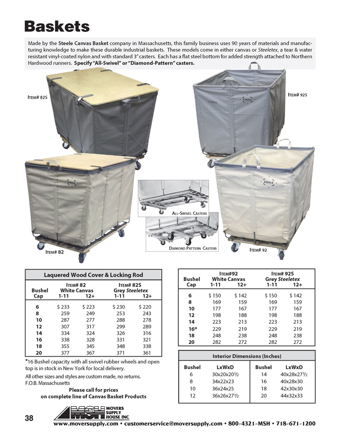 Steele Baskets, Canvas Baskets, Diamond Pattern Casters, Dandux, bins, steeletex, canvas bins, industrial laundry bins, industrial laundry baskets, laundry baskets on wheels, laundry cart, laundry bin, industrial carts