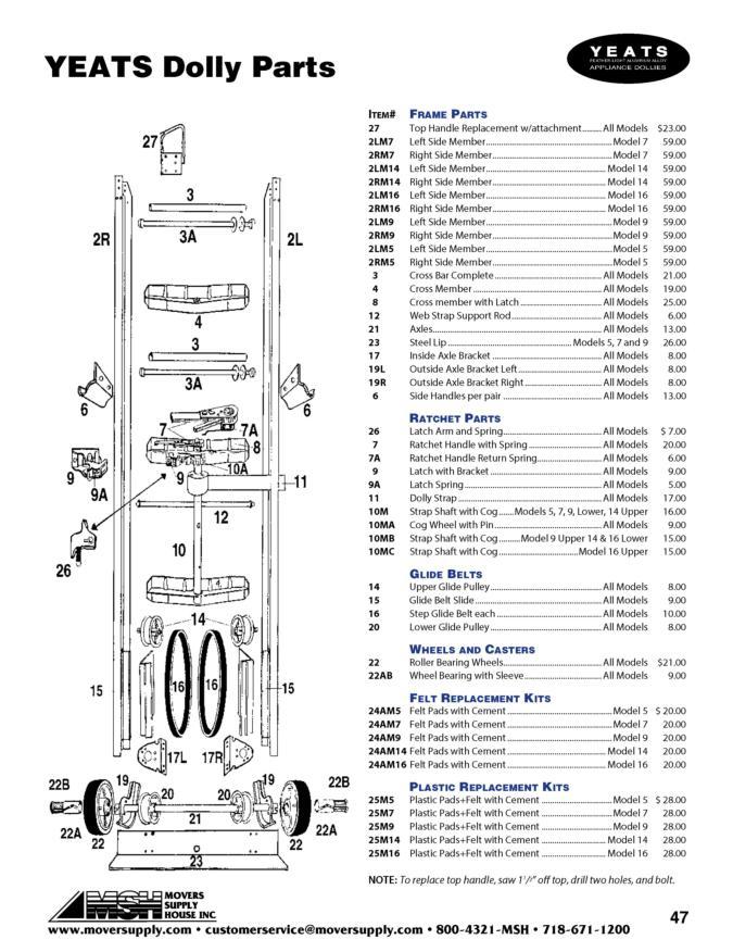 Hand Truck Parts Diagram Com