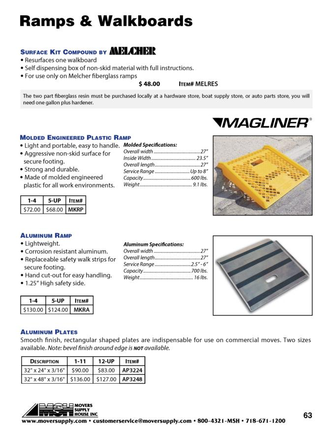 Magline curb ramp, aluminum curb ramp, lightweight and easy to handle, metal curb ramp, magliner curb ramp, magliner, melcher