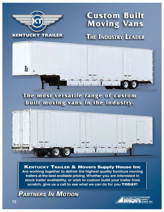 Moving Vans, Kentucky Trailer, Moving trailers, Electronics trailer, drop frame trailers, HHG trailers, drop deck trailers, kentucky manufacturing, Kentucky trailer services