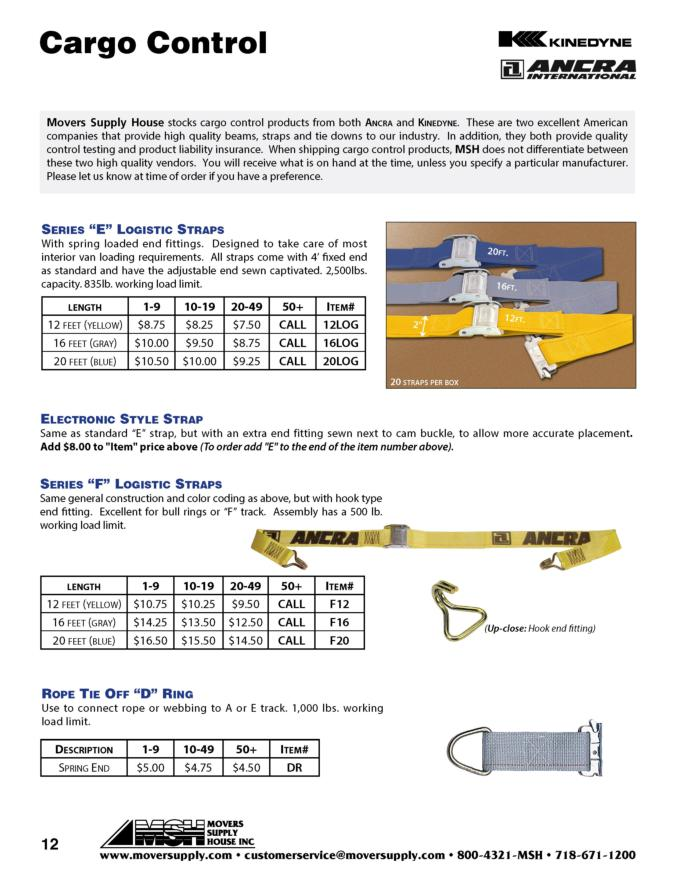 Strap Assemblies, Logistic Straps, E Straps, KINEDYNE straps, Ratchet strap with E fittings, Heavy Duty logistic straps, ANCRA straps, 641201, 641601, 642001, 511211, 511611, 512011, 15360, Rope tie off D ring, D ring, Hook end fitting, electronic style strap, E Logistic strap, E strap, F strap, 12' logistic straps, 16' logistic straps, 20' logistic straps