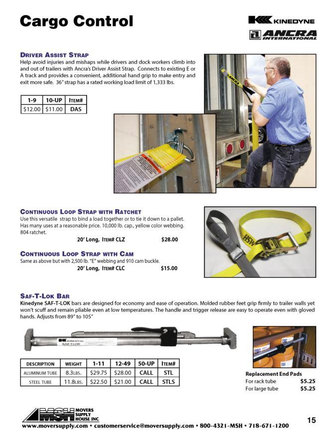 cargo straps load bars cargo control