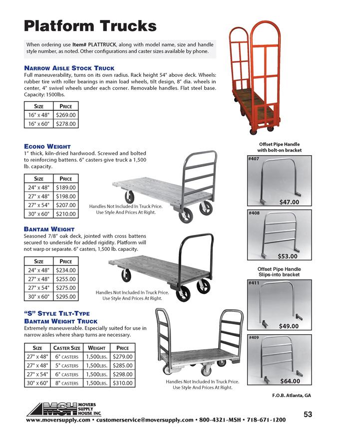 e804ef97961 U Frame Trucks - Material Handling Equipment