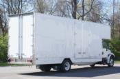 Rear view of HHG moving van